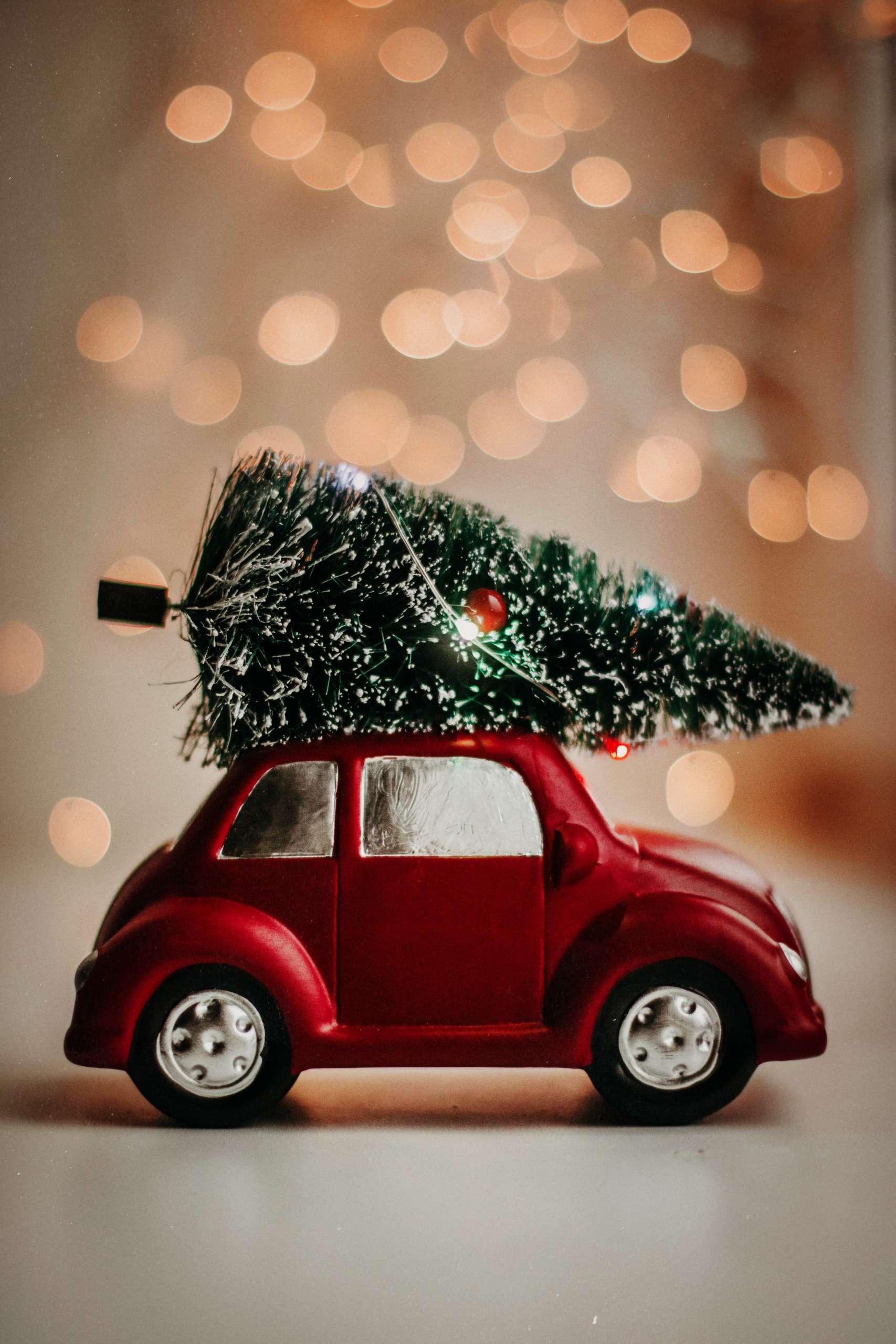 Car and Christmas Tree